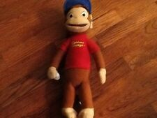 "Kellytoy Curious George in Baseball Outfit Plush 15"" Stuffed Animal 2012"