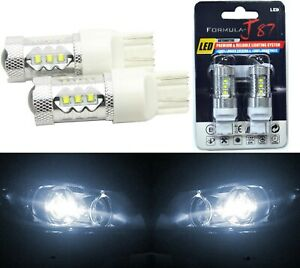 LED Light 80W 7440 White 5000K Two Bulbs Rear Turn Signal Replace Lamp Fit