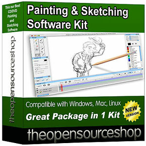 Artist Sketching / Sketch Drawing Suite – Create Your Own Portraits and Artwork