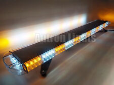 "55"" 104 LED Emergency Flash Tow/Plow Truck Response Amber White Strobe Light Bar"