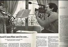 PUBLICITE ADVERTISING 124  1977  CANON   caméra  514 HLS ( 2p)
