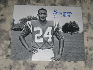 Baltimore Colts LENNY MOORE Signed 8x10 Photo NFL HOF AUTOGRAPH
