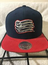 New England Revolution Mitchell and Ness Adjustable Snapback Hat Soccer MLS NWT