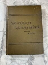 """New listing 1893 Antique Book """"King Henry the Fifth"""" Shakespeare"""