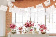 Papel Picado Banners Wedding Garland WHITE Banner AMOR VARIETY Fiesta