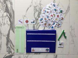 PECS/Boardmaker SILVER Card Set&A4 Communication Folder for Autism/ASD/ADHD/SEN