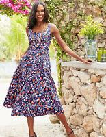 Boden Kleid -  Sabina Midi Dress - Sommer Taschen Muster - NEU UK 8 P EU 36