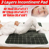 Incontinence Bed Pad For Elderly Mattress Protector Pad Mat Washable Waterproof