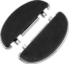 Half-Moon Driver Floorboards Chrome w/ Anti-Vibration Harley Heritage 1990-2015