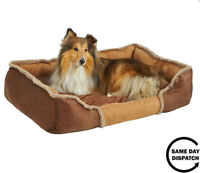 Snooze Dog Bed Soft Washable Fleece Fur Cushion Warm Luxury Pet Basket