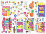 Hiccups Fun Fair Range Single Quilt Cover Set Wall Decals Bunny Cushion