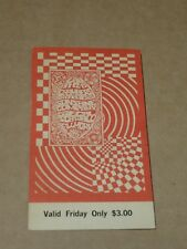 Chambers Brothers/Sunshine Company 1968 San Francisco Concert Ticket