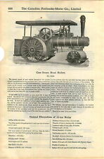 1920 ADVERTISEMENT Case Steam Road Construction Roller 12 Ton Coal Burning