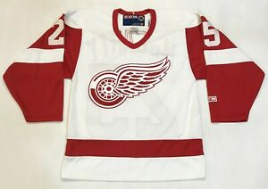 CCM Detroit Red Wings McCARTY #25 NHL Hockey Jersey White Men S Canada Sewn