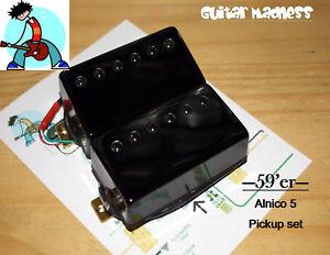 G.M. 59'er Black Covered Alnico 5 Humbucker Set