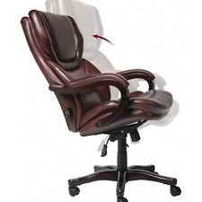 Leather Office Desk Chair Executive Manager Furniture Armrest Big & Tall Serta