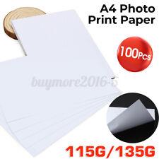 A4 100 Sheets Inkjet Laser Waterproof  Glossy Photo Print Paper