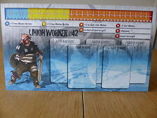 ZOMBICIDE-Unione lavoratore # 42-PERSONAGGIO dashboard CARD (solo scheda)
