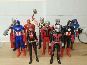 Marvel Titan Hero Series 12 Inch 10 Figure bundle inc rare £1 start