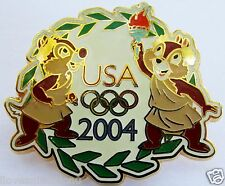Disney USA Olympic Logo Cast Exclusive Chip & Dale Pin