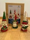 Jim Shore - 3 piece Christmas Gnome Ornament Set #6009186 New for 2021