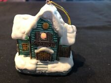 Vintage 1989 Enesco Station Light Up Ornament, Collectible Tree Decoration