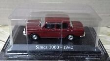"DIE CAST ""  SIMCA 1000 - 1962 "" SCALA 1/43 RBA AUTO INDIMENTICABILI"