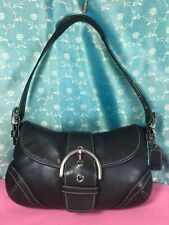 Coach 9247 Authentic Carry bag Shoulder bag Purse Handbag Black Leather