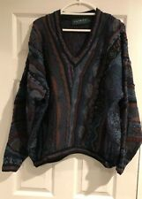 Tundra Men's Sweater 3D Multi Color Biggie Cosby Hip Hop Vintage 90s Large