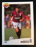 #119 ZINEDINE ZIDANE ROOKIE GIRONDINS BORDEAUX CARTE PANINI FOOTBALL CARD 1996