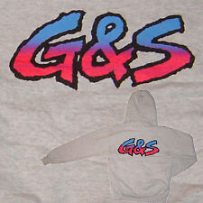 G&S / Gordon & Smith / Vintage Hooded Top Original 80s Skateboard Surfing M-AG