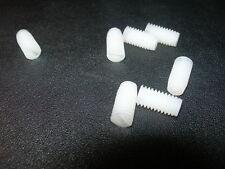 Packs of  2, 5, 10    M4  M5  M6 NYLON(Plastic) GRUB SCREWS (Slotted Head)