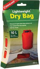 10L LIGHTWEIGHT DRY BAG WATERPROOF SEAMS,RIP STOP ROLL-TOP CLOSURE RED NIB