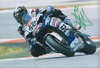 James TOSELAND SIGNED YAMAHA 52 Rider GP 12x8 Photo AFTAL COA Autograph