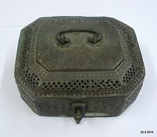 Ancient Antique Collectible Pan Dan Betel Nut Box brass box 1850s