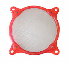 Lamptron 80mm Plastic Fan Frame + Washable Stainless steel filter (UV Red)