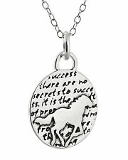 Horse Necklace - 950 Sterling Silver - Handmade Inspirational Pendant Horses NEW
