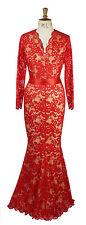 V Neck Long Sleeve Formal Maxi Dresses for Women