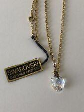 New ListingAuthentic Swarovski Crystal Heart Shape Pendant Necklace 18� Chain Look