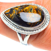 Pietersite 925 Sterling Silver Ring Size 8 Ana Co Jewelry R58685F