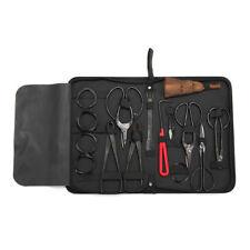 Bonsai Tool Kit  Set 10 Pcs Carbon Steel Splitter W/ Tool Roll Wires Nylon Case