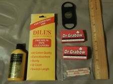 Pipe Tobacco/Cigar Supplies LOT ~Filters_Cleaners_Cutter_Sweetener~ FREE SHIP.