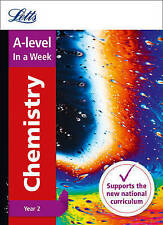 A-Level Chemistry Year 2 in a Week by Letts A-Level (Paperback, 2016)