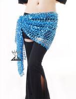 Meshy Belly Dance Dancing Hip Scarf Costume Belt Light Blue