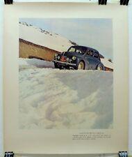 Renault 4CV Rallye Monte Carlo 1951 ORIGINAL Factory showroom poster