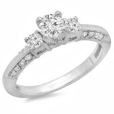 0.40 CT 14k White Gold Round Diamond Ladies Bridal Semi Mount Ring No Center