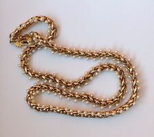 Gorgeous Vintage Richelieu Gold tone Double Sided Faux Pearls Braided Necklace