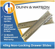 250mm 45kg Drawer Slides / Fridge Runners - Trailers, Caravan, Kitchen, Toolbox