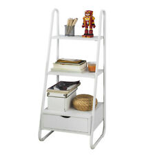 SoBuy® White Ladder Shelf Unit Storage Display Bookcase with Drawer FRG219-W,UK