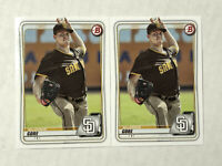 MacKENZIE GORE LOT OF 2 2020 Bowman ROOKIE RC's! #BP-74! QTY AVAILABLE! INVEST!